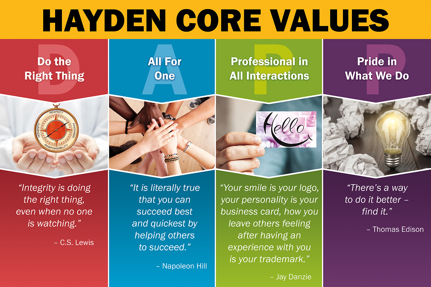 Hayden Consultants Core Values